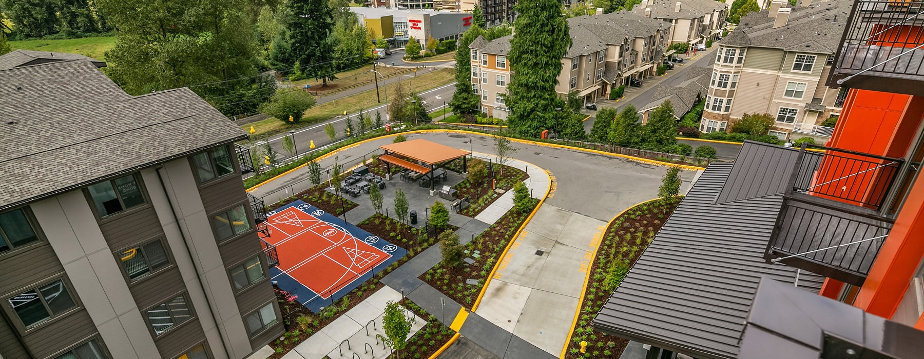aerial view of sports court at The Bond